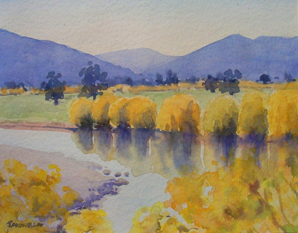 Water colour Mitta river Eskdale